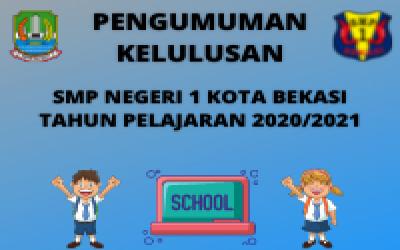 Hasil Kelulusan Peserta Didik Kelas IX SMP NegerI 1 Kota Bekasi Tahun Ajaran 2020/2021